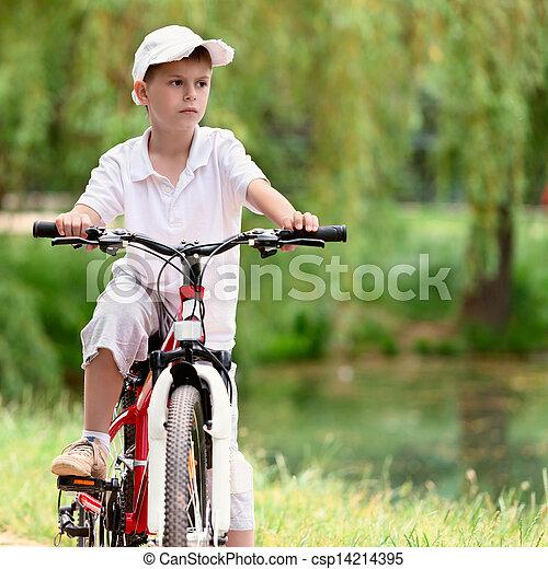 велосипед, ребенок - csp14214395