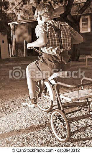 верховая езда, велосипед - csp0948312