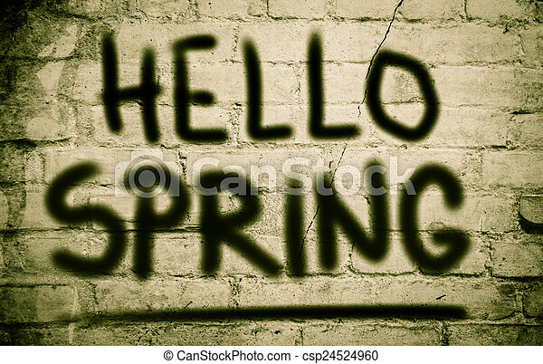 весна, концепция, здравствуйте - csp24524960