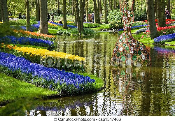 весна, парк, пруд - csp1547466