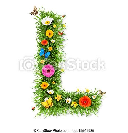 """весна, письмо, """"l"""" - csp18545935"""