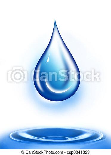 воды, падение - csp0841823