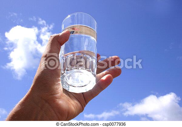 воды, стакан - csp0077936