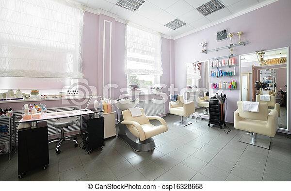 волосы, салон, чистый, европейская - csp16328668
