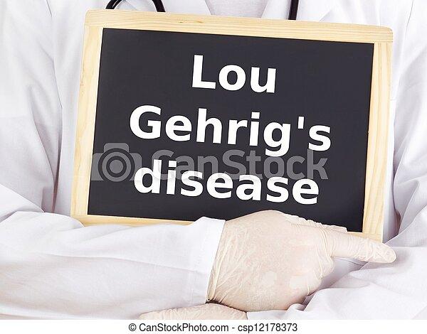 врач, information:, болезнь, gehrig's, лу, shows - csp12178373