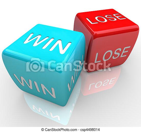 выиграть, vs, -, игральная кость, потерять - csp4498014