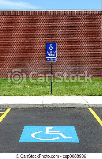 гандикап, acccessible, фургон, стоянка - csp0088936
