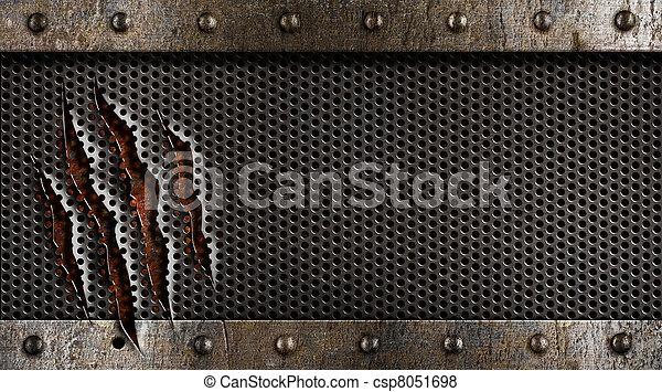 гранж, металл, задний план - csp8051698