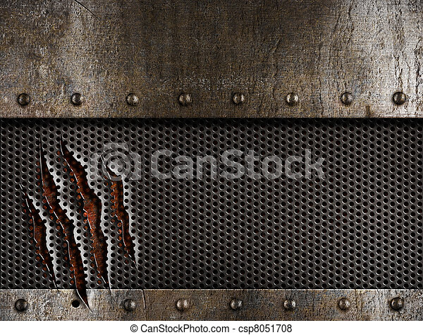 гранж, металл, задний план - csp8051708