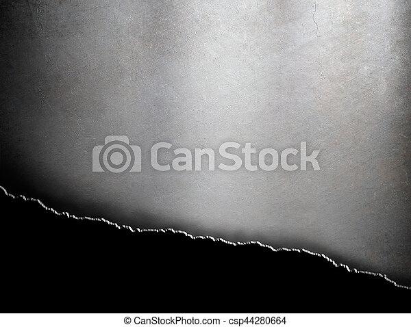 гранж, порванный, металл, задний план - csp44280664