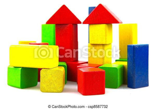деревянный, здание, blocks - csp8587732
