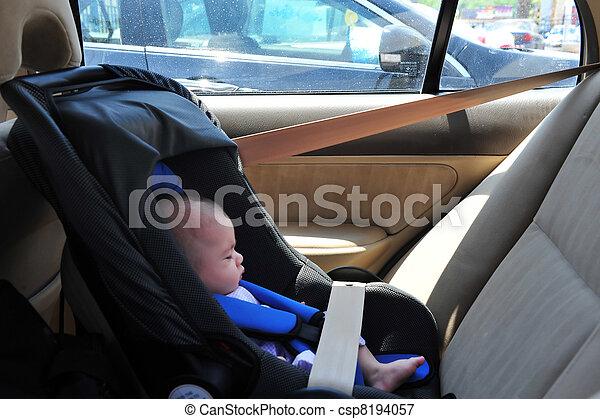 детка, автомобиль, сиденье - csp8194057