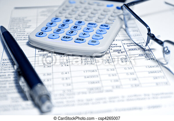 доклад, -, концепция, финансовый, бизнес - csp4265007