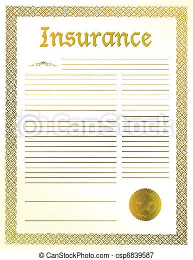 документ, страхование, правовой - csp6839587