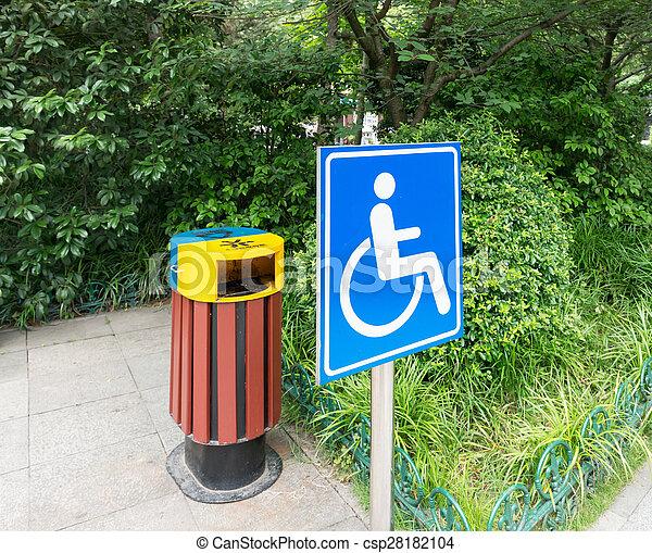 доступ, инвалид, логотип, дорога, парк - csp28182104