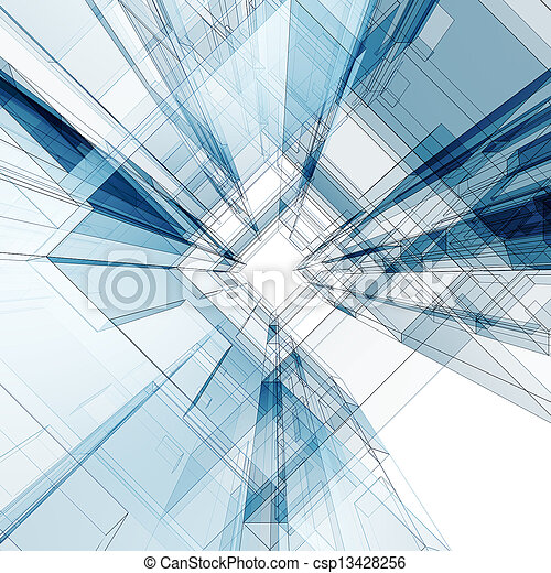 здание, абстрактные, концепция - csp13428256