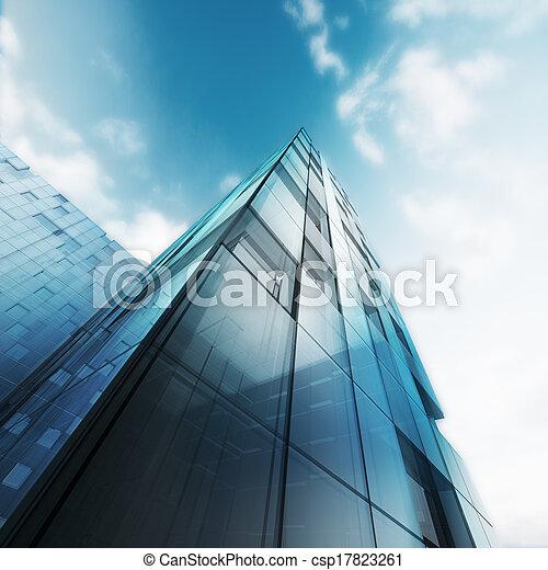 здание, абстрактные, прозрачный - csp17823261