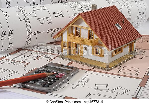 здание, дом, план - csp4677314