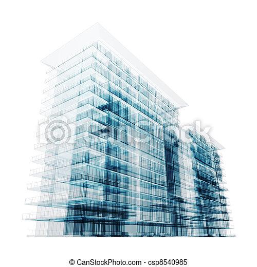 здание, современное - csp8540985