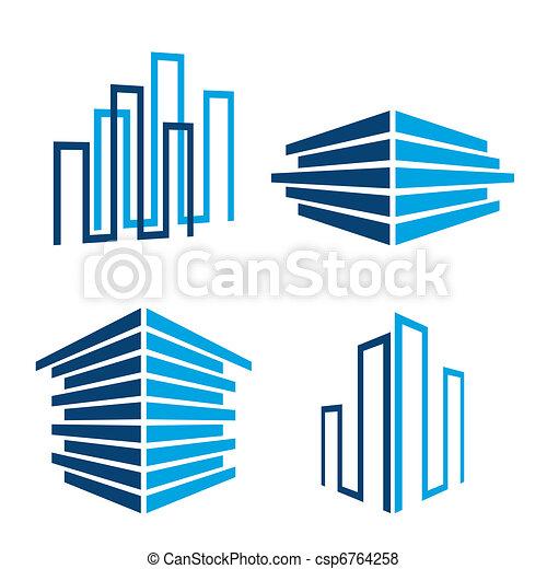здание, icons - csp6764258