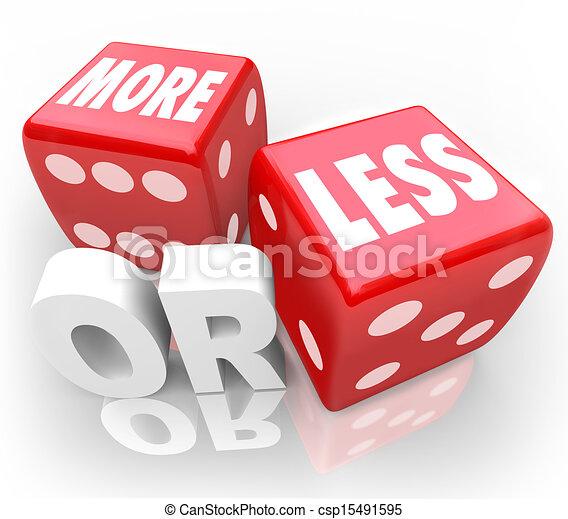 игральная кость, меньше, случайный, шанс, красный, words, или, авантюра, больше - csp15491595