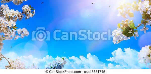 изобразительное искусство, весна, цветок, задний план - csp43581715