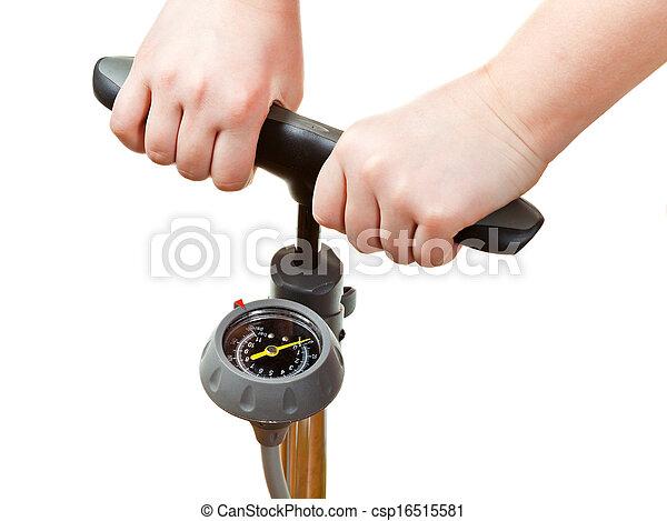 индикатор, руководство, pumping, воздух, давление, насос - csp16515581