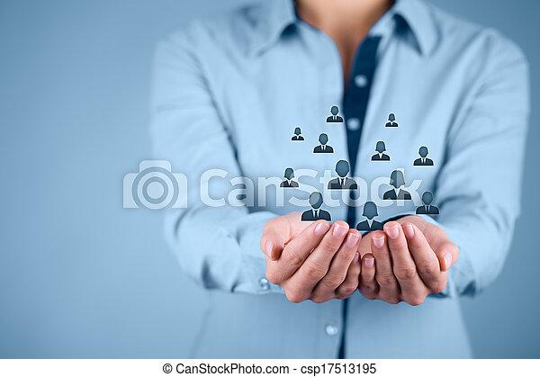 клиент, сотрудников, концепция, или, забота - csp17513195