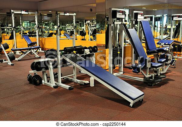 клуб, гимнастический зал, фитнес - csp2250144