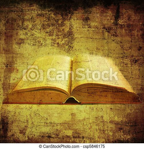 книга, старый - csp5846175