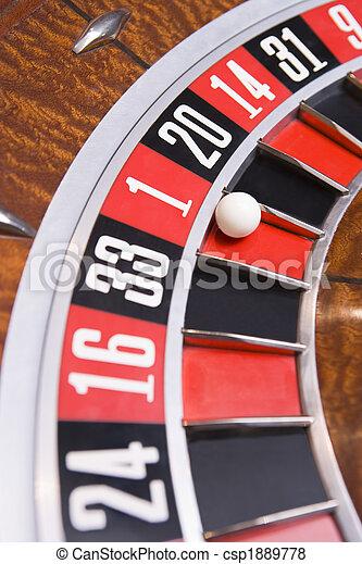 колесо, рулетка, мяч, вверх, закрыть - csp1889778