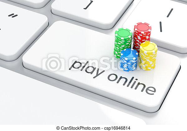 концепция, games, онлайн - csp16946814