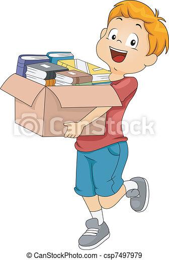 коробка, books - csp7497979