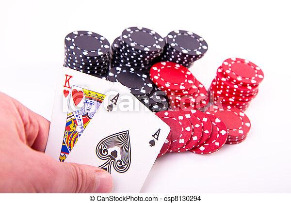 король, блэк джек, hearts - csp8130294