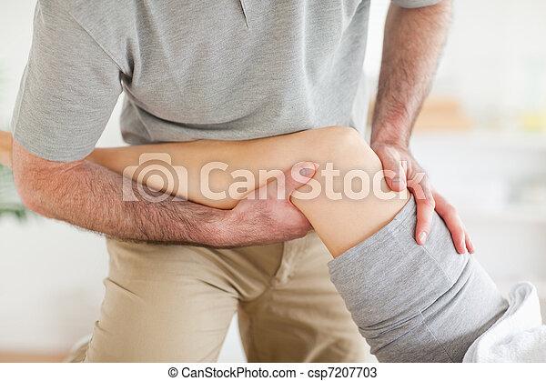 костоправ, колено, massaging, woman's - csp7207703