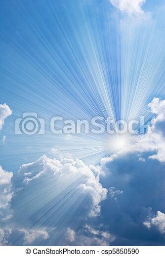 красивая, синий, небо - csp5850590