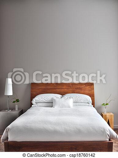 красивая, современное, чистый, спальня - csp18760142