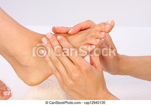 красота, фото, -, ноги, лечение, массаж - csp12940135