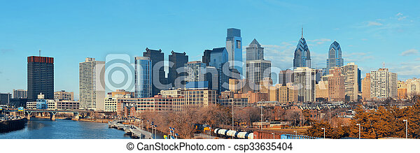 линия горизонта, филадельфия - csp33635404