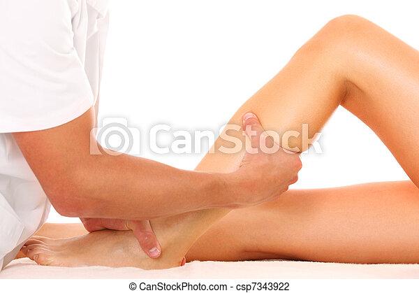 массаж, нога - csp7343922