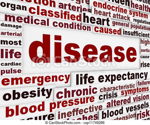 медицинская, предупреждение, сообщение, задний план, болезнь - csp11749286