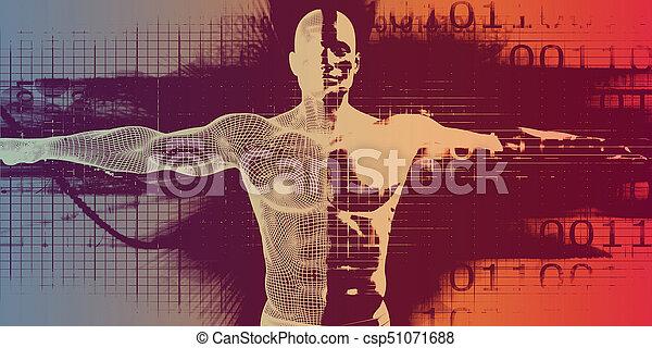 медицинская, технологии, advanced - csp51071688