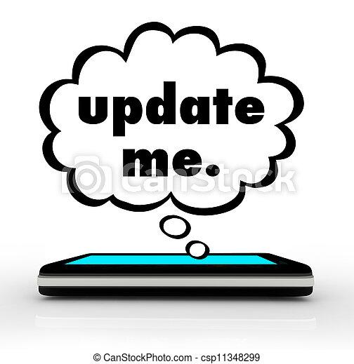меня, клетка, обновить, думал, телефон, умная, words, пузырь, облако - csp11348299