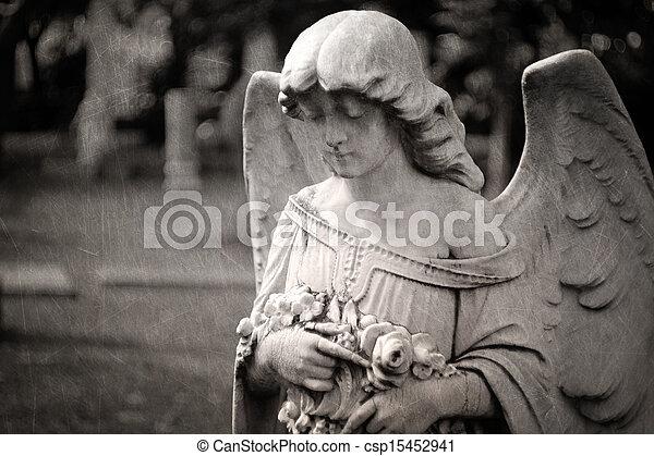 надгробная плита, ангел - csp15452941