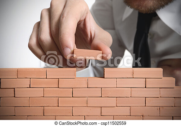 новый, строить, бизнес - csp11502559