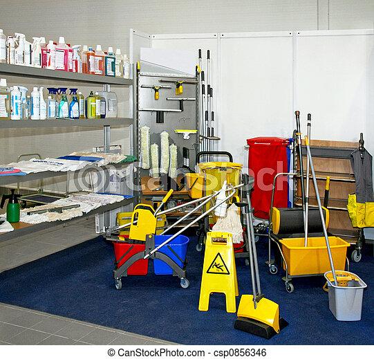 оборудование, уборка - csp0856346