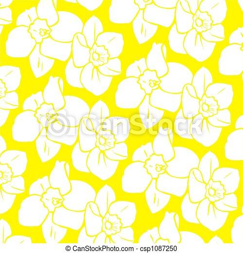 орнаментальный, бледно-желтый - csp1087250