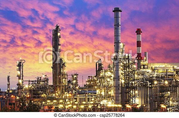 очистительный завод, промышленность, масло, -, завод - csp25778264