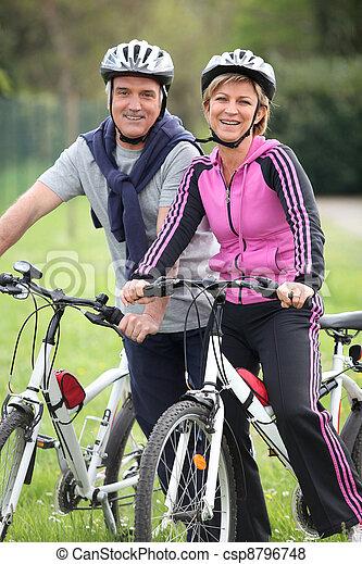 пара, велосипед, поездка, having - csp8796748