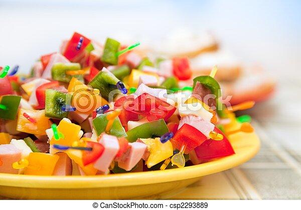 питание, вечеринка - csp2293889